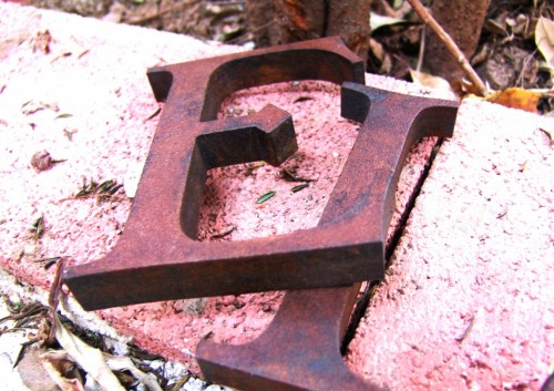 Rusty Metal Effects on letters